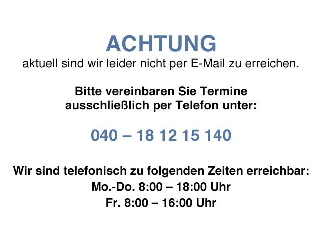 Hinweis Email-Stoerung